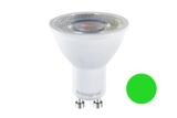 LED SPOT DECO 40° 230V GU10 5W 220LM GROEN_
