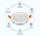 LED DOWNLIGHT RGB+CCT SMART LIGHT IP54 230V 6W 500LM _