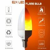 LED VUUR KAARSLAMP VLAM FLAME E14 2W 1300K_