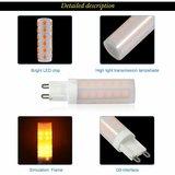 LED VUUR LAMP VLAMSIMULATIE FLAME G9 0,5W 1300K_