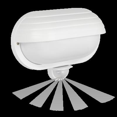WANDLAMP MET SENSOR SAMUM WIT IP44 230V E27 FITTING