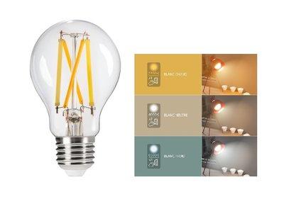 LED FILAMENT GLOEILAMP A60 CCT 3 LICHTKLEUREN
