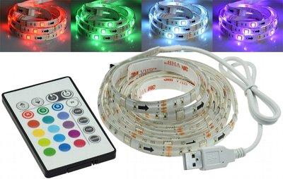 RGB LED STRIP SET USB 2-METER MET REMOTE