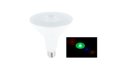 LED PAR38 SPOT IP65 36° 230V E27 15W GROEN