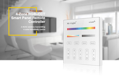 LED RGB+CCT 4-ZONE SMART PANEL REMOTE CONTROLLER 2.4GHz