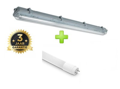 LED TL ARMATUUR IP65 1 X 120-CM + LED TL LAMP 4000K
