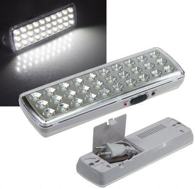 LED NOODLAMP 30 LEDS 230V EN ACCU TOT MAX. 10-UUR