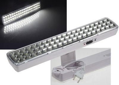 LED NOODLAMP 60 LEDS 230V EN ACCU TOT MAX. 10-UUR