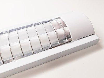 LED TL RASTERARMATUUR IP20 2 X 120-CM + LED TL LAMPEN 4100K