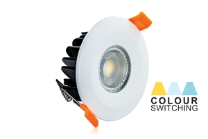 LED DOWNLIGHT COLOUR SWITCHING IP65 FIRE RATED 6W 450LM