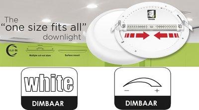 LED DOWNLIGHT MULTI-FIT INBOUW 65-205MM DIM 18W 1530LM 4000K