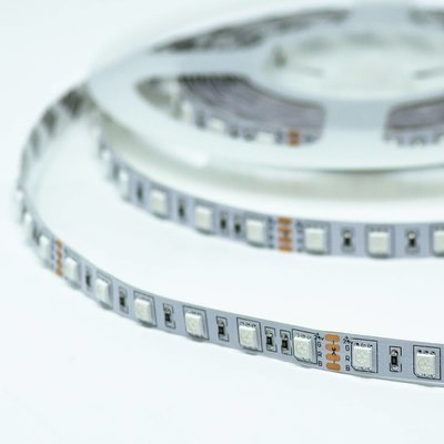 RGB LED STRIP 60L/M. 24V/DC 14,4W/M. RGB MULTICOLOR