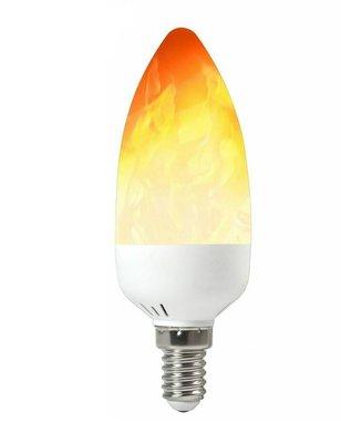 LED VUUR KAARSLAMP VLAM FLAME E14 2W 1300K