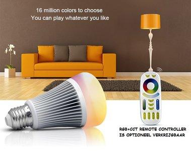 LED GLOEILAMP RGB+CCT SMART LIGHT E27 8W 550LM