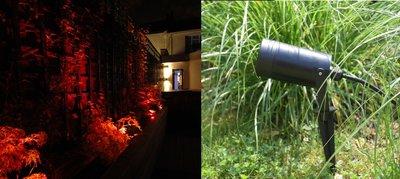 LED TUINSPOT + GRONDPIN INCL. LED SPOT 230V 5W ROOD