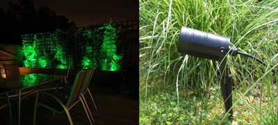 LED TUINSPOT + GRONDPIN INCL. LED SPOT 230V 5W GROEN
