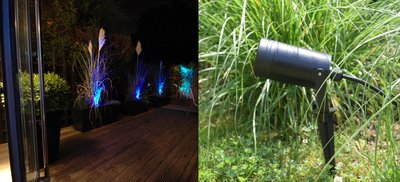 LED TUINSPOT + GRONDPIN INCL. LED SPOT 230V 5W BLAUW