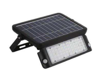 LED SOLAR VERSTRALER MET BEWEGINGSMELDER 10W 1080LM 4000K
