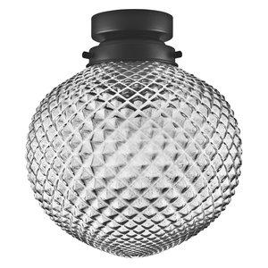 LEDVANCE 1906 CARVED PINEAPPLE SMOKE GLASS PLAFONDLAMP