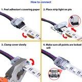 LED STRIP CONNECTOR MET 15-CM DRAAD 12-MM RGBW STRIPS_