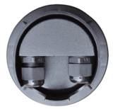 GRONDSPOT ZWART IP67 VIERKANT LAAG 230V MAX. 50W _
