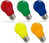 LED GEKLEURDE GLOEILAMP OUTDOOR A50 230V E27 5W _
