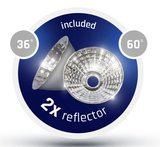 LED 3-FASE RAILSPOT ANDRO REFLECTOR 36° 60° 230V 25W 2650LM_