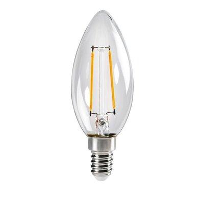 LED FILAMENT KAARSLAMP C35 230V E14 2,5W 250LM 2700K