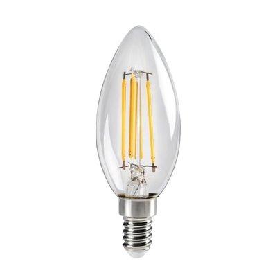 LED FILAMENT KAARSLAMP C35 230V E14 4,5W 470LM 2700K