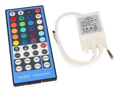 LED RGBW STRIP CONTROLLER + IR REMOTE 12-24V 8A 96-192W