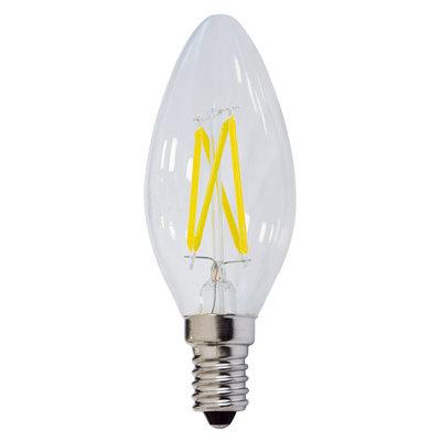 LED FILAMENT KAARSLAMP C35 DIMBAAR 230V E14 4W 400LM 2800K