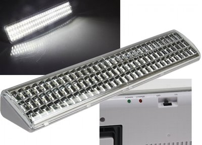 LED NOOD- WERKLAMP 90 LEDS 230V EN ACCU TOT 10-UUR