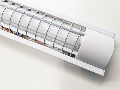 LED TL RASTERARMATUUR IP20 1 X 120-CM + LED TL LAMP 2800K