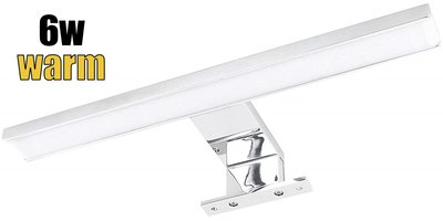 LED BADKAMERLAMP SPIEGELLAMP 2 IN 1 ALUMINIUM IP44 230V 6W 450LM