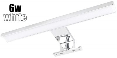 LED BADKAMERLAMP SPIEGELLAMP 2 IN 1 ALUMINIUM IP44 230V 6W 500LM