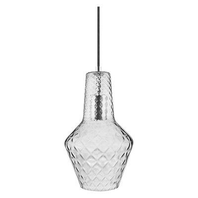 LEDVANCE 1906 CARVED PENDANT BOTTLE SMOKE GLASS