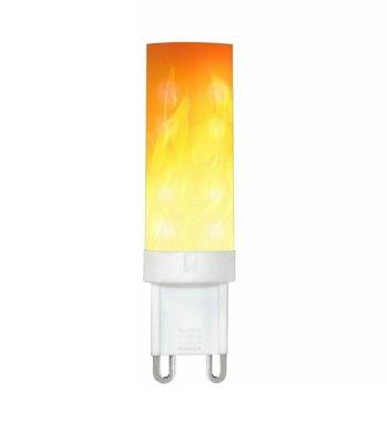 LED VUUR LAMP VLAMSIMULATIE FLAME G9 0,5W 1300K