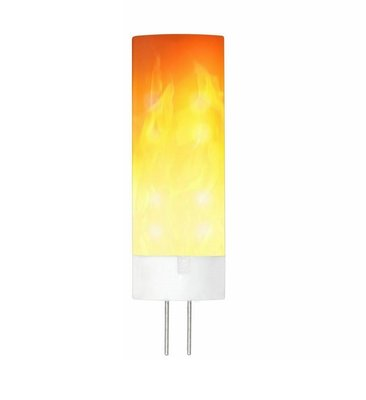 LED VUUR LAMP VLAMSIMULATIE FLAME G4 0,5W 1300K