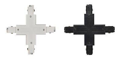 X-CONNECTOR VOOR 3-FASE RAILS WIT OF ZWART
