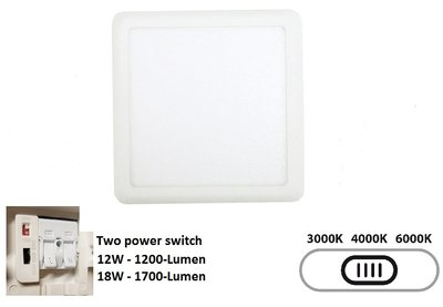 LED DOWNLIGHT TRI-COLOR - TWO POWER 12W/18W 1200/1700LM