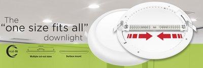 LED DOWNLIGHT MULTI-FIT INBOUW 65-205MM 18W 1530LM 4000K