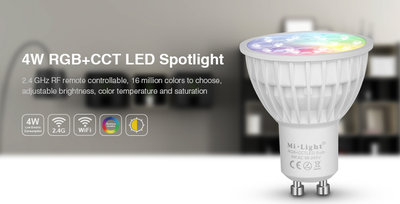 LED SPOT RGB+CCT SMART LIGHT GU10 4W 280LM